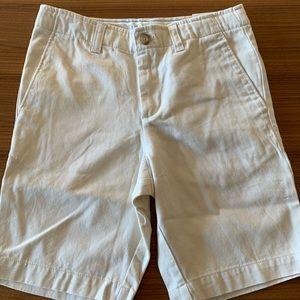 New Lands End boys cream khaki shorts